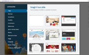 questa immagine mostra uno screenshot di Flazio che è un sito internet per creare siti web gratis