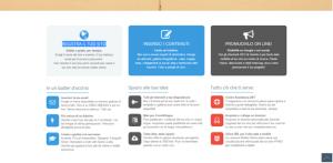 questa immagine mostra uno screenshot di gomilio, che è un sito internet per creare siti web gratis.