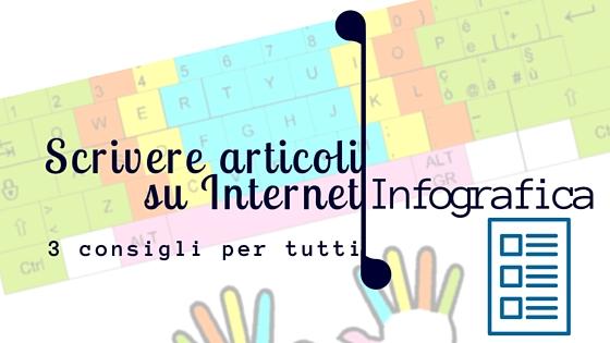 Come scrivere bene articoli su internet - Infografica - Copertina